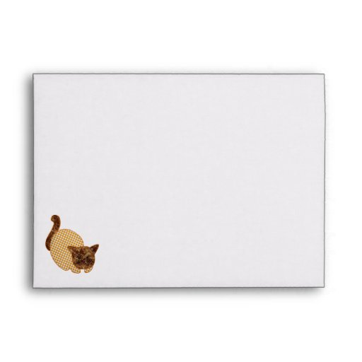 Cute Country Style Yellow Cat Envelope