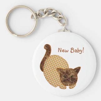 Cute Country Style Yellow Cat New Baby Keychain