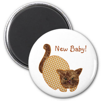 Cute Country Style Yellow Cat New Baby Magnet