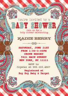 Western baby invitations announcements zazzle cute country western baby shower invitations filmwisefo