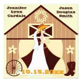 Cute Country Western Cowboy Wedding Invitations