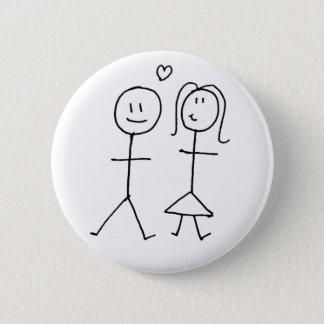 Cute couple button