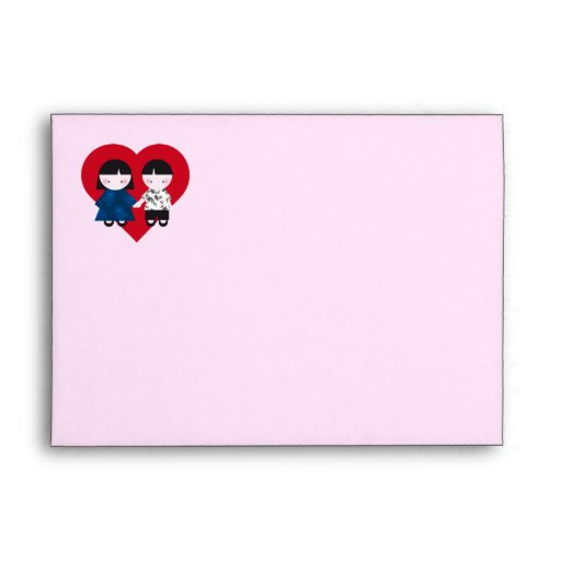 Cute couple envelope