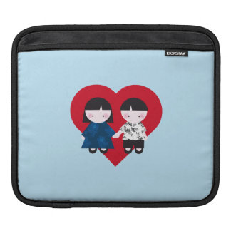Cute couple iPad sleeve