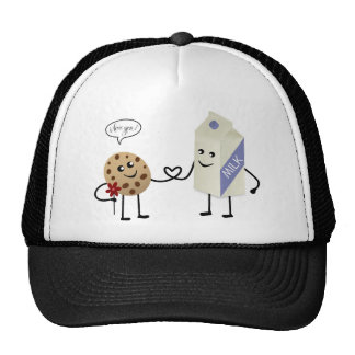 Cute Couple - Milk and Cookie Trucker Hat