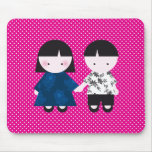 Cute couple mouse pad