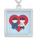 Cute couple personalized necklace