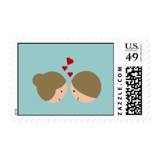 Cute Couple Postage