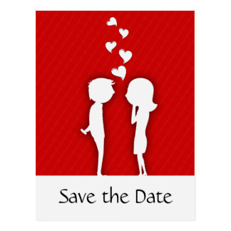 Cute Couple Save the Date Wedding Announcement Postcard