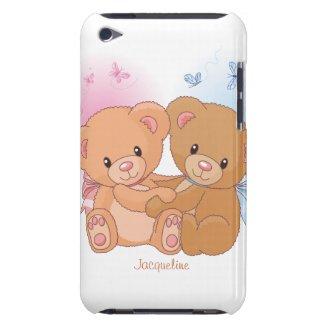 Cute Couple Teddy Bear Love Hug iPod Case