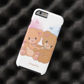 Cute Couple Teddy Bear  Love Hug Tough iPhone 6 Case