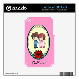 Cute couple, wedding items iPod touch 4G skins