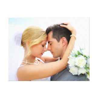 Cute Couple Wedding Photo DIY Template Canvas