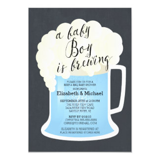 Cute Couples Boys Baby Shower Baby Brewing Card