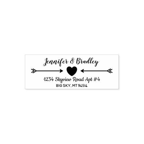 Cute Couples Personalized Return Address Self_inking Stamp
