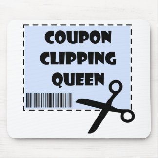 Cute Coupon Clipping Queen Saying Mouse Pad