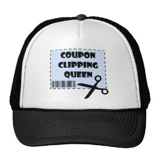 Cute Coupon Clipping Queen Saying Trucker Hat