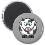 Cute Cow 2 Inch Round Magnet