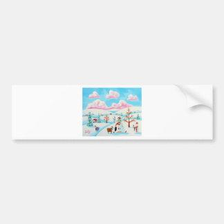 Cute cow and sheep bumper sticker