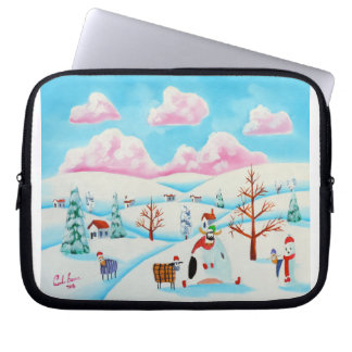 Cute cow and sheep computer sleeve