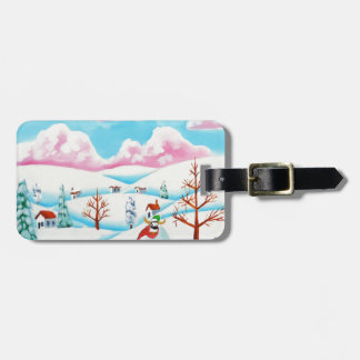 Cute cow and sheep luggage tag