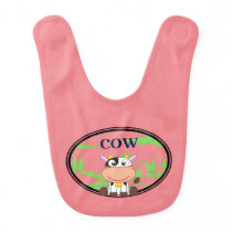 Cute Cow Baby Bib