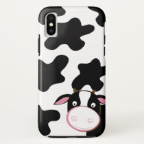 Cute Cow Black and White Cell Phone Case