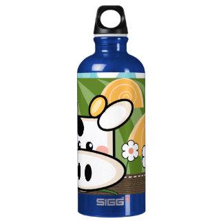 Cute Cow BPA Free Aluminum Water Bottle