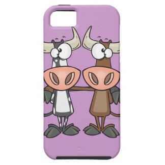 cute cow buddies friendship cartoon iPhone SE/5/5s case