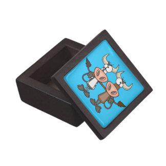 cute cow buddies friendship cartoon premium jewelry boxes