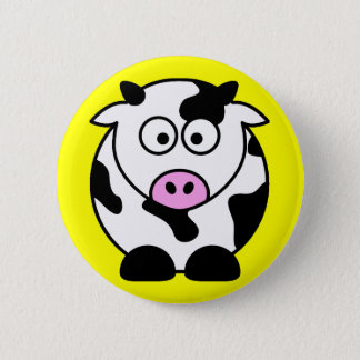 CUTE COW BULL BUTTON