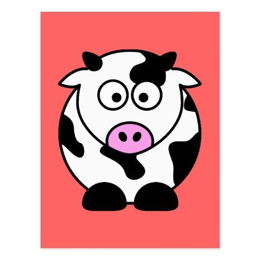 CUTE COW BULL POST CARD