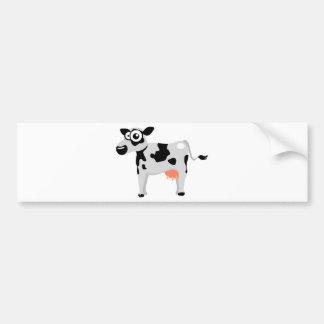 Cute cow car bumper sticker