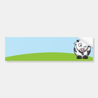 Cute Cow Bumper Sticker Car Bumper Sticker