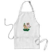 Cute Cow & Butterfly Adult Apron