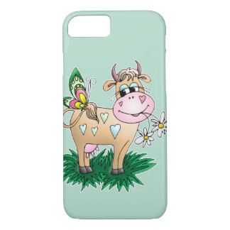 Cute Cow & Butterfly iPhone 8/7 Case