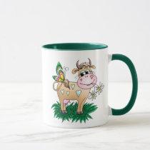 Cute Cow & Butterfly Mug