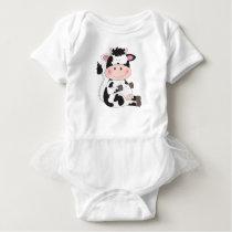 Cute Cow Cartoon Baby Bodysuit