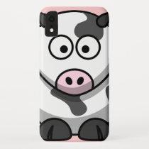 Cute Cow Cartoon Character iPhone XR Case