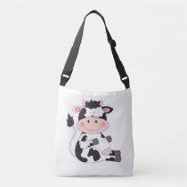 Cute Cow Cartoon Crossbody Bag