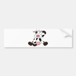 Cute Cow Cartoon Design Bumper Sticker
