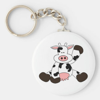Cute Cow Cartoon Design Keychain
