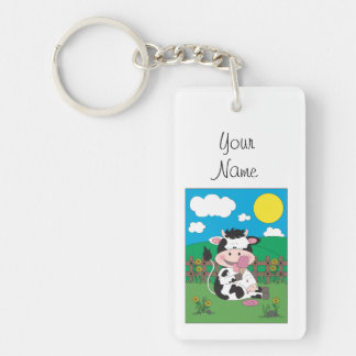 Cute Cow Cartoon Keychain
