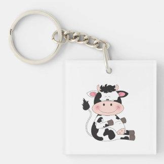 Cute Cow Cartoon Keychain