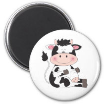 Cute Cow Cartoon Magnet