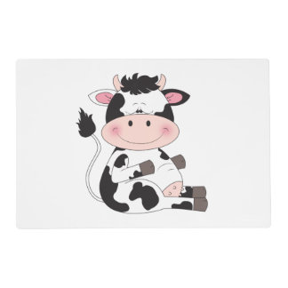 Cute Cow Cartoon Placemat