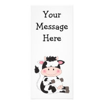 Cute Cow Cartoon Rack Card