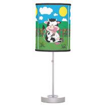 Cute Cow Cartoon Table Lamp