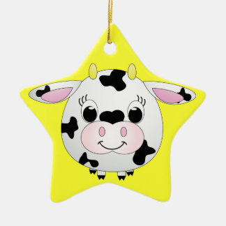 Cute Cow Ceramic Ornament