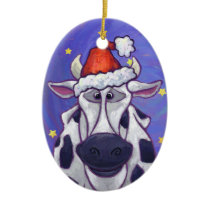 Cute Cow Christmas Ornament